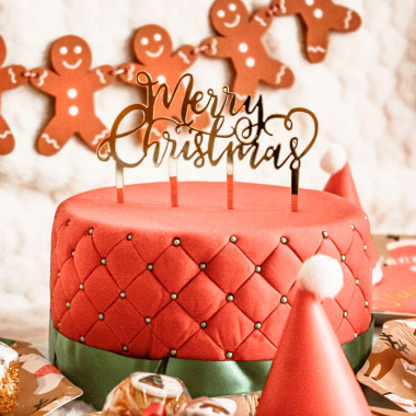 "Jultårta deluxe - inklusive Tårtdekoration, ""Merry Christmas"""
