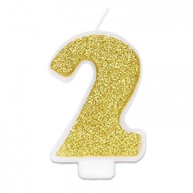 Guld sifferljus nummer 2