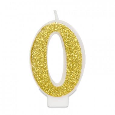 Guld sifferljus nummer 0