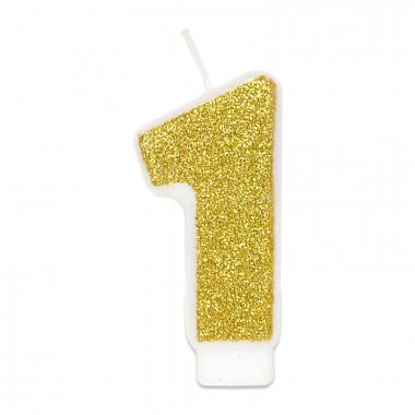 Guld sifferljus nummer 1