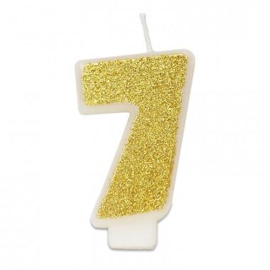 Guld sifferljus nummer 7