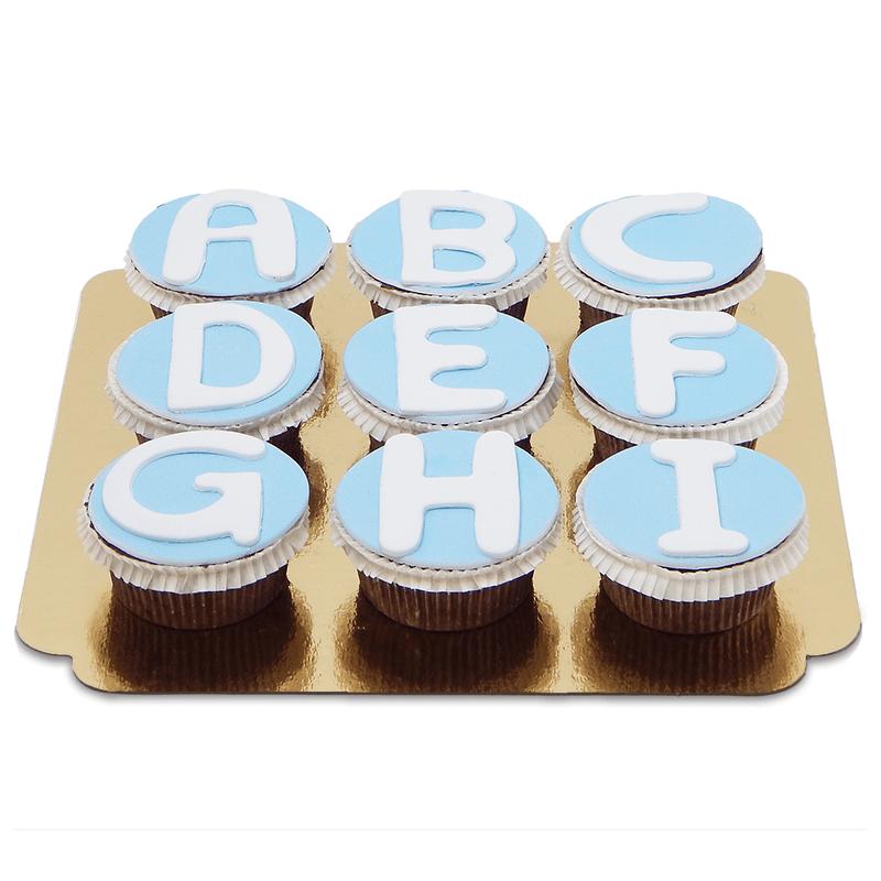 Buchstaben-Cupcakes, 9 Stück