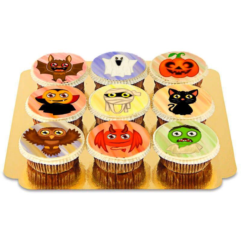 Cupcakes med Halloween-motiv