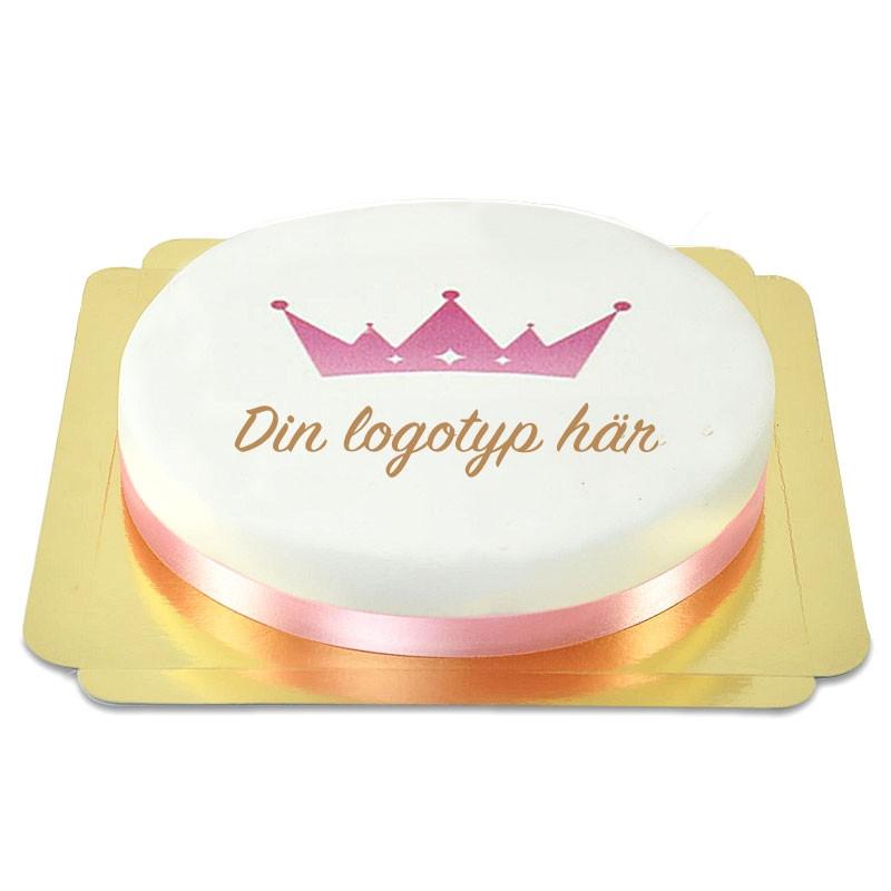 Rund logotyptårta