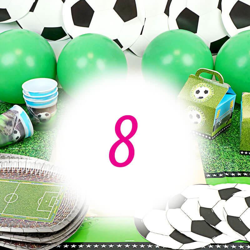 Partyset fotboll för 8 personer - utan tårta