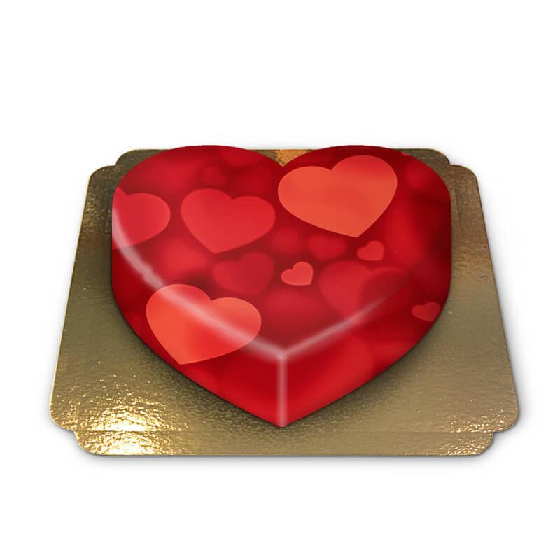 Herzen in Herzform