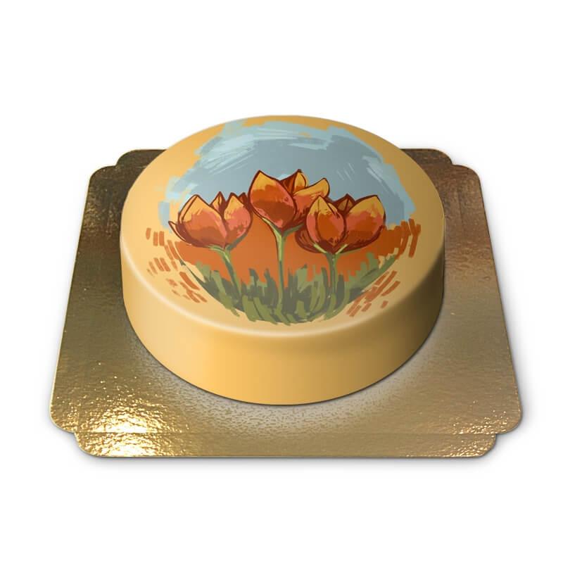 Tort-tulipany