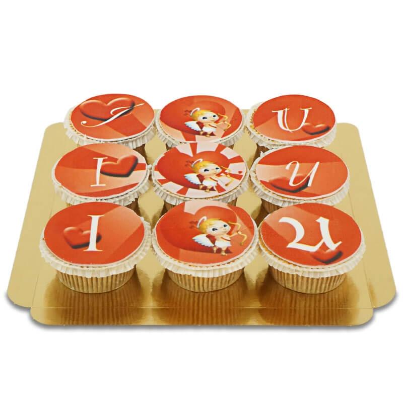 I Amor U Cupcakes, 9 Stück
