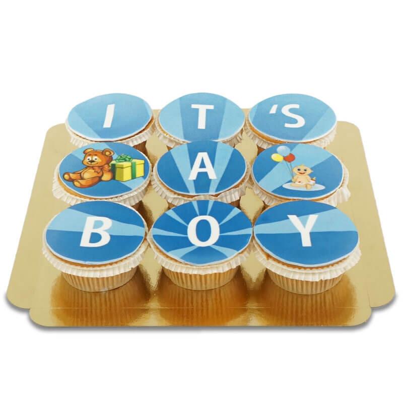 It's a boy Cupcakes, 9 Stück