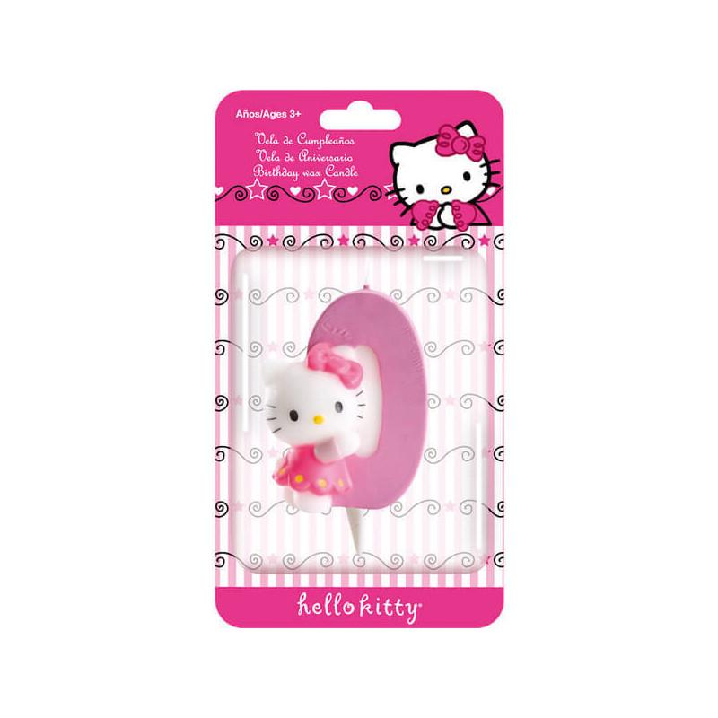 Świeczka tortowa Hello Kitty z cyfrąl 0