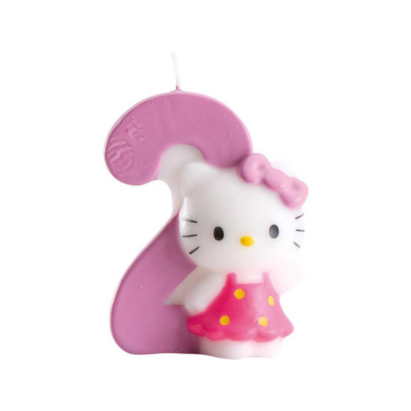 Świeczka tortowa Hello Kitty z cyfrą2