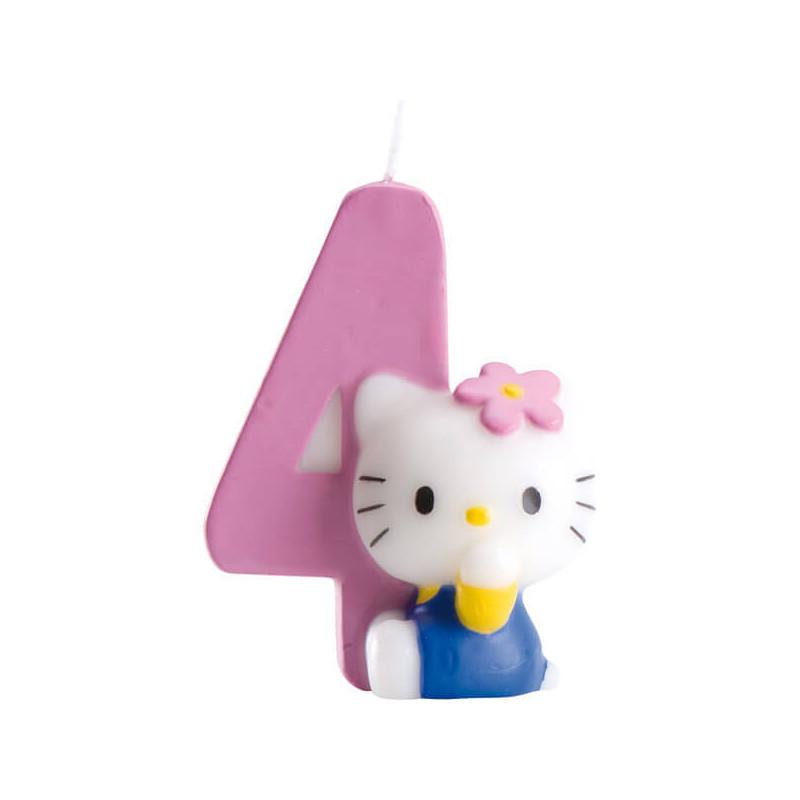 Świeczka tortowa Hello Kitty z cyfrą 4