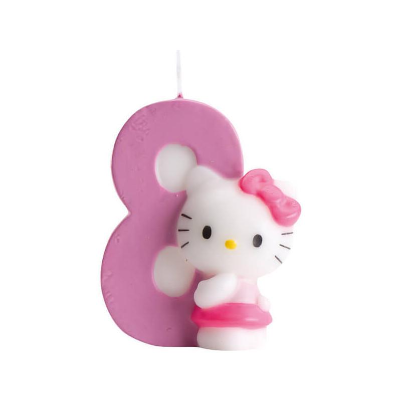 Świeczka tortowa Hello Kitty z cyfrą 8