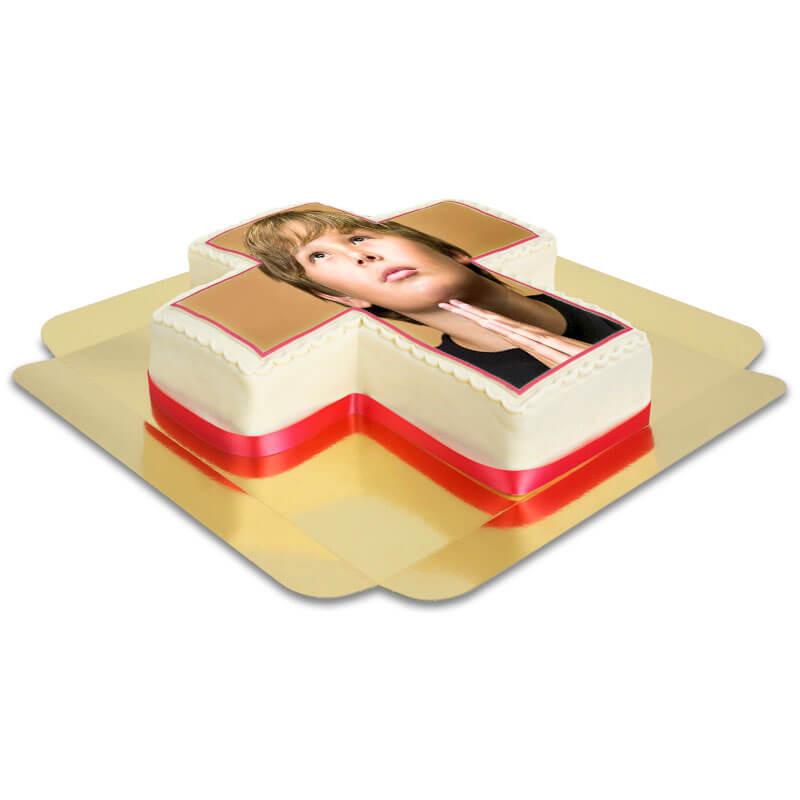 Korstårta med foto, valfri färg