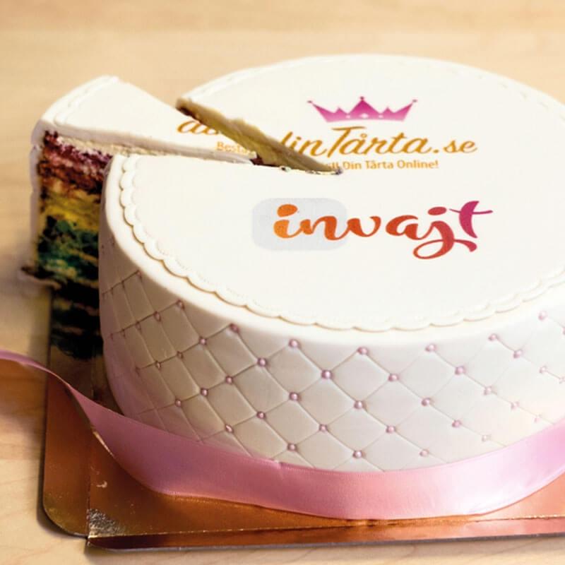 Deluxe logotårta från dinTårta.se med Invajt