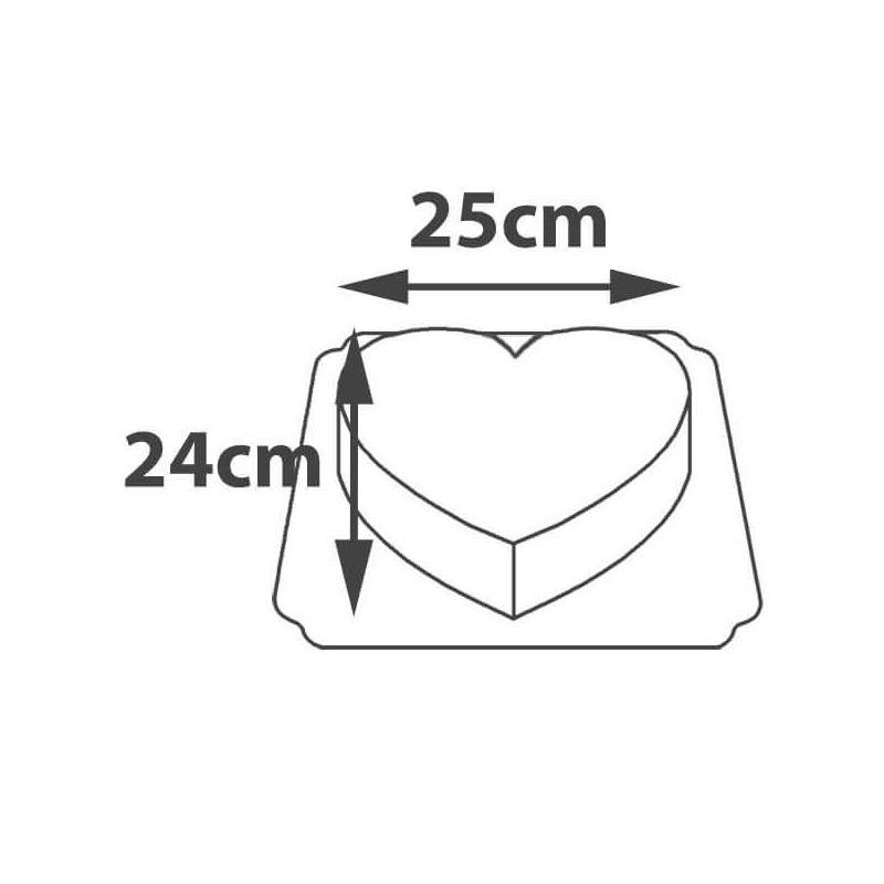Tort w kształcie serca z logiem wymiary