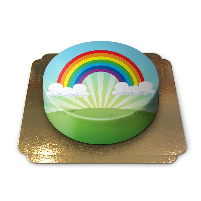 Teczowy tort