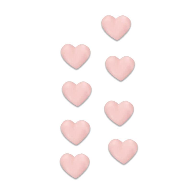 Rosa sockerhjärtan
