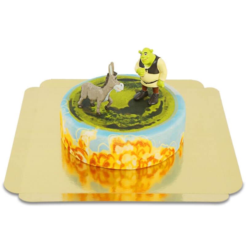 Shrek und Esel auf Märchen-Torte