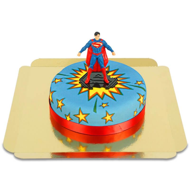 Superman na komiksowym torcie