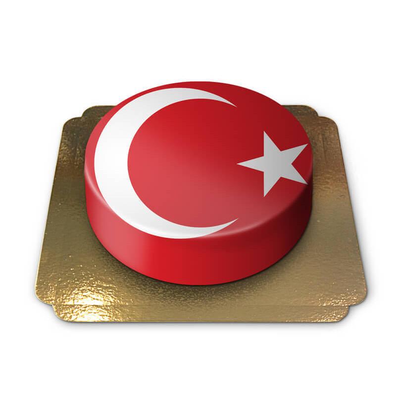 Turkiet tårta, tårta med turkiska flaggan