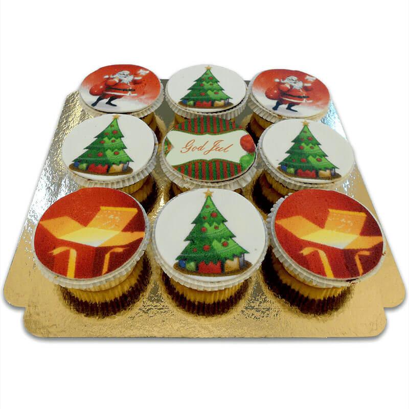 Weihnachts-Cupcakes, 9 Stück SE