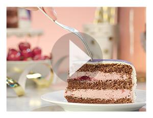 Körsbärscremetårta