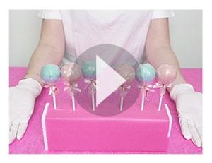 Så bygger du ett cake-pop display ställ från förpackningen :)